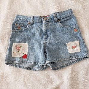 Old Navy Floral Patch Jean Shorts size 10